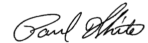 signature of dr paul white glen allen orthodontist