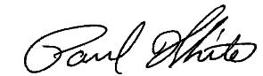 signature of dr paul white glen allen orthodontist