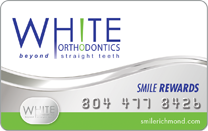 white orthodontics patient rewards
